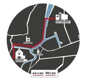 Plattegrond route Jopenkerk Haarlem Jopen Proeflokaal